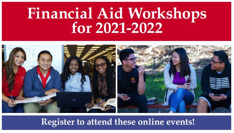 Financial Aid Workshops 2021-2022 banner