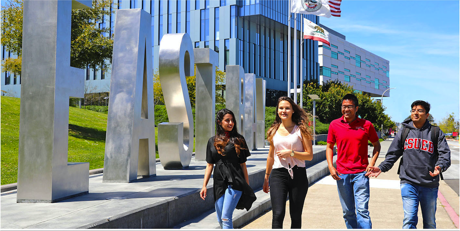 picture of students walking on campus