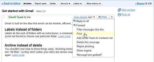 How to save a gmail email to a file