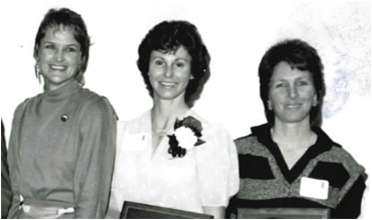 "L-R Marilyn King, Barbara Pickel, and Debi ""Cis"" Schafer led the Pioneers to their first national championship in 1972."