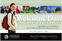 CSUEB 2010 Welcome Day banner