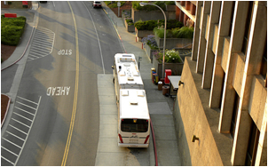 AC Transit will continue to pick up outside of Warren Hall. (Image: Flickr user Jeremy80)