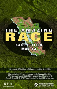 """Amazing Race BART edition"" will be held on May 14."