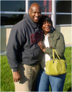 Andre Wilson and his wife Tracy Wilson by CSU