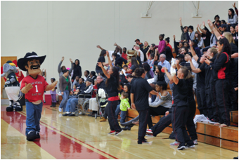 CSUEB faculty and staff are invited to lunch and a game on December 19 courtesy of the basketball teams. (Photo: Kevin Hill/CSUEB)