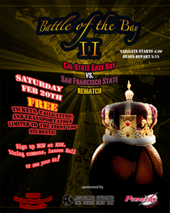The Battle of the Bay trip on Feb. 20 is limited to 100 students. (Image: Residence Life)