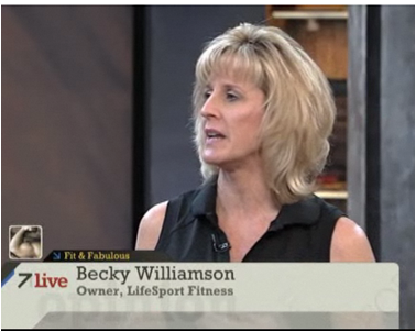 Becky Williamson (R) provided fitness tips on ABC Bay Area 7Live. (Photo: 7Live Online)