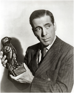 OLLI offers a film review of Humphrey Bogart and his female  protagonists starting July 13. (Image: Wikipedia.com)