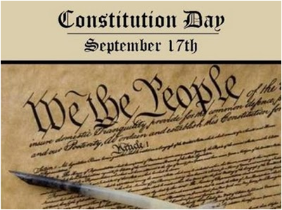 Constitution Day is an American federal observance that recognizes the adoption of the United States Constitution and those who have become U.S. citizens.