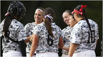 Action game photos of CSUEB softball players. The Pioneer softball coaching staff will conduct an open tryout on Sept. 28 from 5-6 p.m. Currently enrolled Cal State East Bay students who have not been recruited by the coaching staff are eligible to tryout.