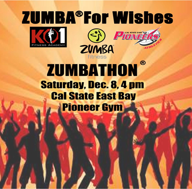Poster promoting the CSUEB Zumba for Make-A-Wish Foundation.