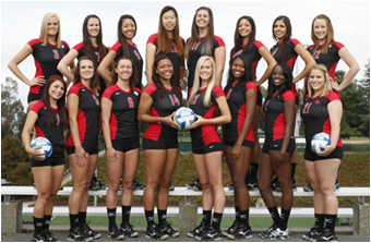 CSUEB volleyball begins its CCAA schedule this weekend. (Photo: Kelley Cox)