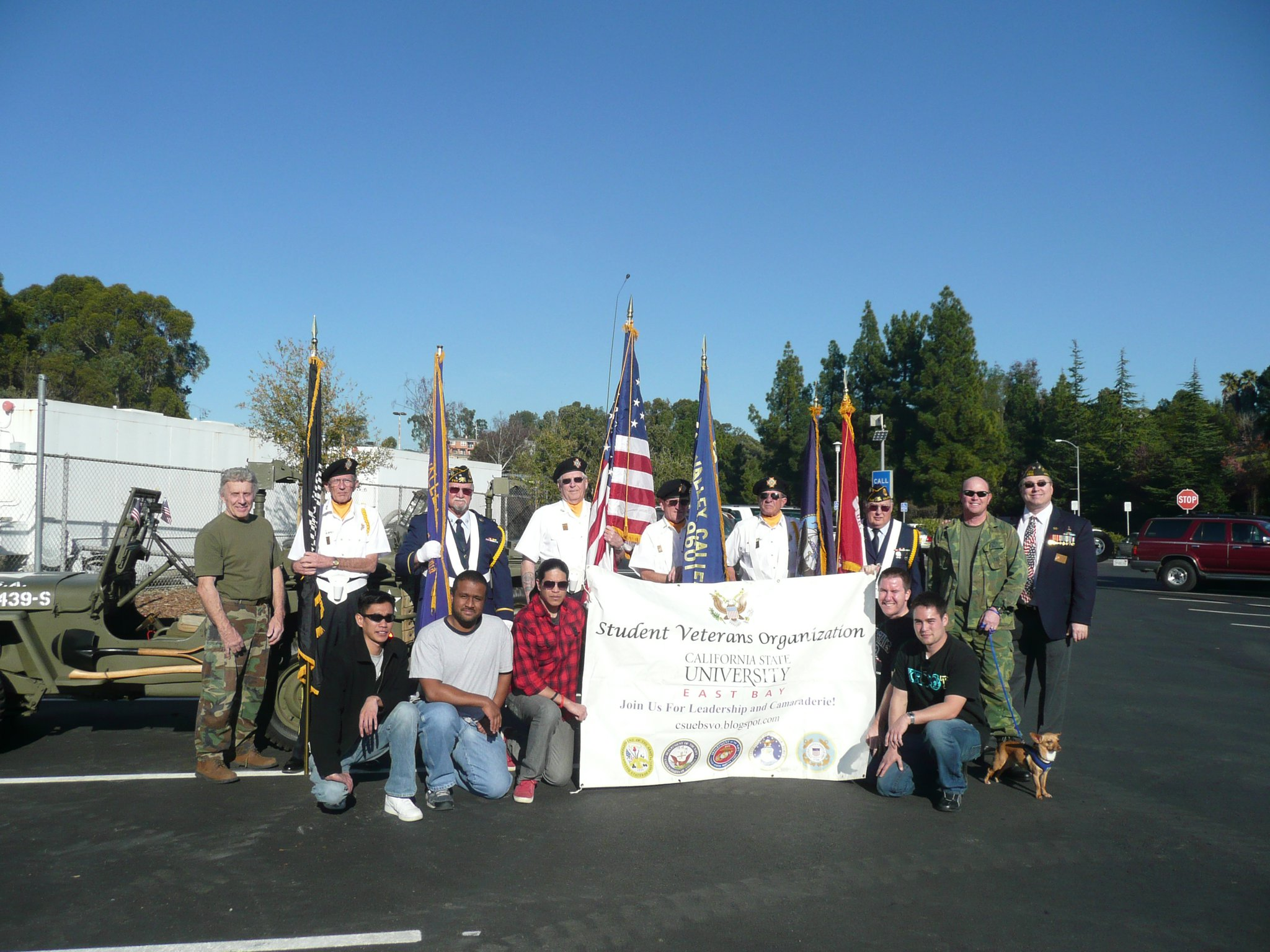 CSUEB student veterans participated in the 2011 Homecoming parade. (Photo: CSUEB SVO Facebook page)