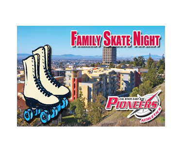 Photo of the flyer promoting the Hayward Family Skate event on April 20, 2013.
