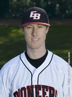 Headshot of CSUEB baseball pitcher Sean Becker.