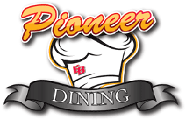 Photo of the CSUEB dining logo which is a chef's hat with a CSUEB logo.