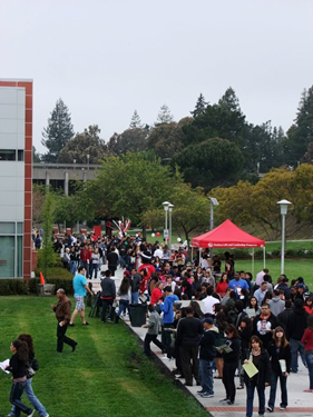 Image of participants at CSUEB Welcome Day in 2011.