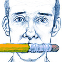 Graphic image of J.R. Havlan (writersblocpodcast.com)