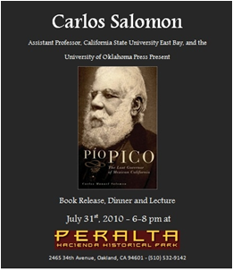 Pio Pico event flyer
