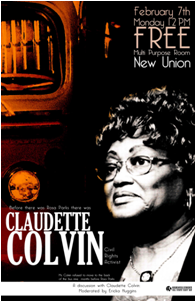 Civil Rights activist Claudette Colvin will speak at CSUEB on Feb 7.