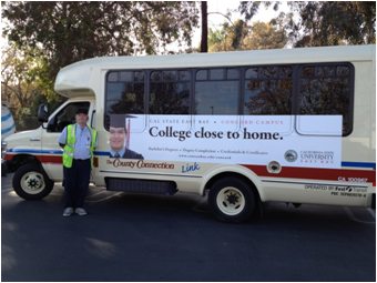 CSUEB Concord campus operates a free shuttle to and from the BART station.