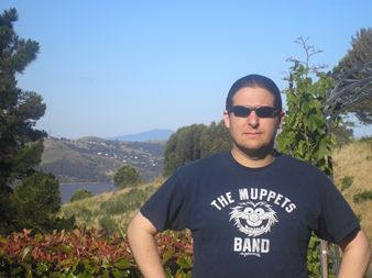 Photo of David Matteri in front of a mountain.