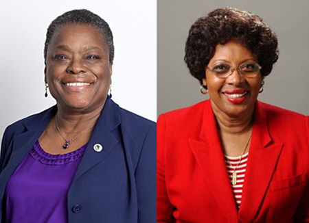 Head shots of Dianne Rush Woods and Arthurlene Towner