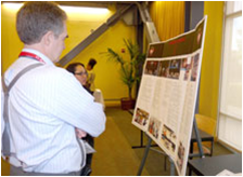 Guests viewed exhibits focused on CSUEB's continuing commitment to diversity and multiculturalism