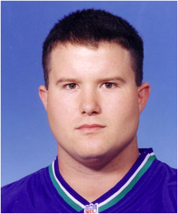 Former Seattle Seahawks offensive lineman and Cal State East Bay alumnus Frank Beede (Image: seahawks.com)