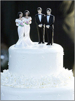 wedding cake with same sex partner toppers
