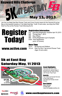 Hayward hills 5K Challenge Registration