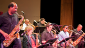 Jazz Orchestra performs at Hayward schools benefit concert.