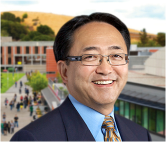 Head shot of Cal State East Bay President Leroy Morishita.