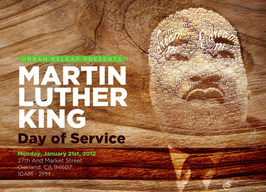 Poster of the MLK Day of Service from Urban Releaf.