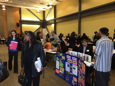 Masters of Social Work students seek internship opportunities at CSUEB's annual MSW Field Fair.