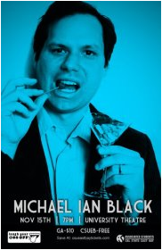 Comedian Michael Ian Black will perform at CSUEB on November 17 at 7pm. (Photo: ASI)