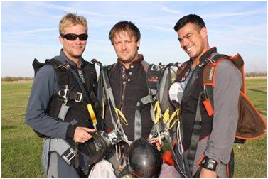 L-R CSUEB grad Michael Knight '03 with Aaron Johnson and TJ Landgren. (Photo: Bay Area News Group)
