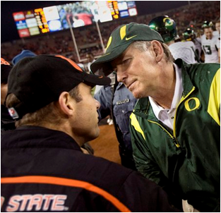 Mike Bellotti '82 starts new ESPN job in April. Photo: Bruce Ely/The Oregonian