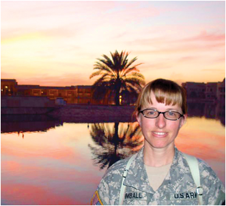 A major in the U.S. Army, Mindy Kimball recently completed a one-year tour of duty in Iraq. By: Mindy Kimball