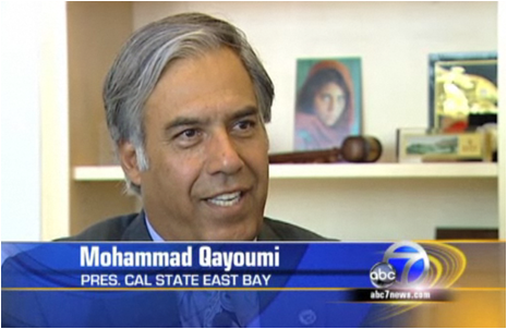 "Cal State East Bay President Mohammad ""Mo"" Qayoumi  (Image: KGO ABC7)"