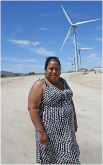 Monique LaChappa, tribal chairwoman for the Campo Kumeyaay Nation, was instrumental in building a new wind farm. (Photo: Amy Standen, KQED)