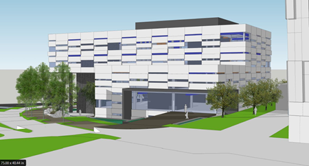 Image of an artist rendering of the new CSUEB Warren Hall replacement building