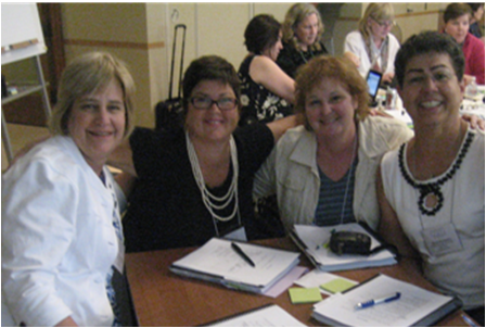 From left to right,  Lynn Van Hofwegan, Roberta Durham, Barbara Maertz, and Elaine Shingleton