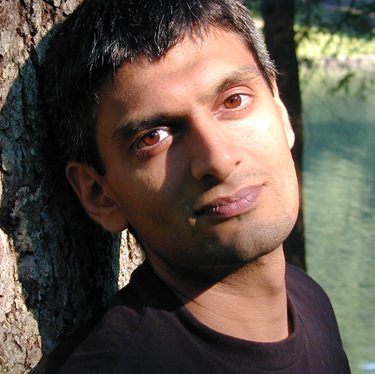 Head shot of Kazim Ali, poet and novelist, who will speak at CSUEB on October 21.