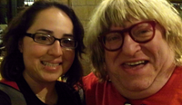 April Rodriguez with Bruce Vilanch at the RAEF benefit concert.