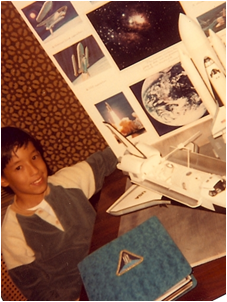 CSUEB Lecturer Rob Mayeda working on his 5th grade science project. (Image courtesy of Rob Mayeda)
