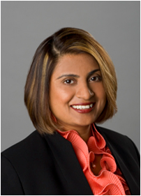 "Photo of Alameda County Medical Center Director and Cal State East Bay grad Varsha Chauhan ""03."