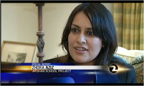 CSUEB alumna Zhora Aziz has a dream to build a girls' school in her home country of Afghanistan.