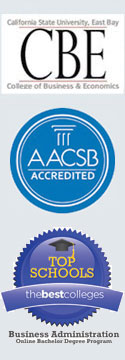 "The logos for ""The Best Colleges,"" ""The Princeton Review,"" and the AACSB."