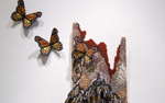"Liz Zunino's needlepoint, ""Monarch Butterflies,"" will be shown."